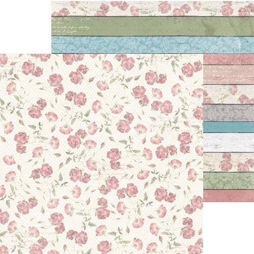BoBunny - Garden Journal Collection - 12 x 12 Double Sided Paper - Bloom