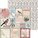 Bo Bunny - Garden Journal Collection - 12 x 12 Double Sided Paper - Freehand