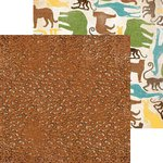 Bo Bunny - Safari Collection - 12 x 12 Double Sided Paper - Growl