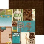 BoBunny - Safari Collection - 12 x 12 Double Sided Paper - Habitat