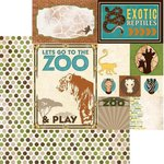 Bo Bunny - Safari Collection - 12 x 12 Double Sided Paper - Zoo