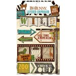 Bo Bunny - Safari Collection - Layered Chipboard Stickers
