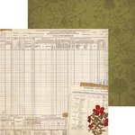BoBunny - Heritage Collection - 12 x 12 Double Sided Paper - Census