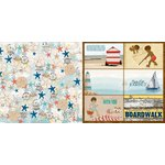 BoBunny - Boardwalk Collection - 12 x 12 Double Sided Paper - Beach Bliss