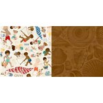 BoBunny - Boardwalk Collection - 12 x 12 Double Sided Paper - Carefree