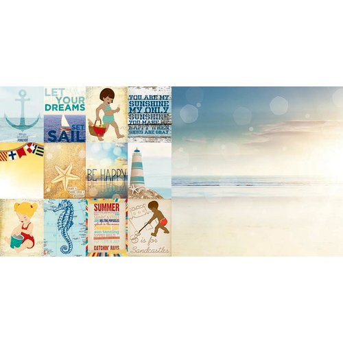 BoBunny - Boardwalk Collection - 12 x 12 Double Sided Paper - Sandcastle