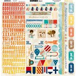 Bo Bunny - Boardwalk Collection - 12 x 12 Cardstock Stickers - Combo