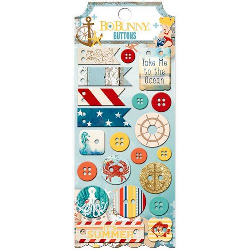 BoBunny - Boardwalk Collection - Buttons