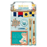 BoBunny - Boardwalk Collection - Layered Chipboard Stickers