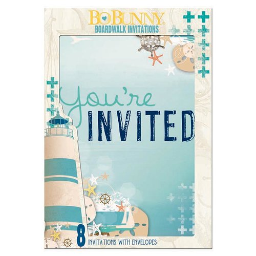 BoBunny - Boardwalk Collection - Invitations