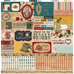 BoBunny - Juliet Collection - 12 x 12 Cardstock Stickers - Combo