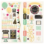 Bo Bunny - Youre Invited Collection - Chipboard Stickers