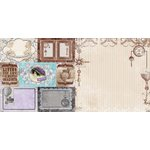 BoBunny - Penny Emporium Collection - 12 x 12 Double Sided Paper - Captured