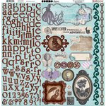 BoBunny - Penny Emporium Collection - 12 x 12 Cardstock Stickers - Combo