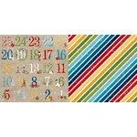 BoBunny - Dear Santa Collection - Christmas - 12 x 12 Double Sided Paper - Advent