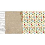 Bo Bunny - Dear Santa Collection - Christmas - 12 x 12 Double Sided Paper - Burlap
