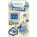 BoBunny - Genevieve Collection - Layered Chipboard Stickers