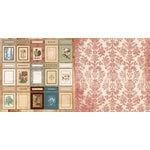 Bo Bunny - Provence Collection - 12 x 12 Double Sided Paper - Cupboards