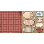 Bo Bunny - Provence Collection - 12 x 12 Double Sided Paper - Elegance