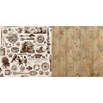 Bo Bunny - Provence Collection - 12 x 12 Double Sided Paper - French Quarter