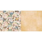 BoBunny - Provence Collection - 12 x 12 Double Sided Paper - Porcelain