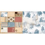 Bo Bunny - Provence Collection - 12 x 12 Double Sided Paper - Toile