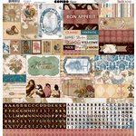 BoBunny - Provence Collection - 12 x 12 Cardstock Stickers - Combo