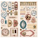 Bo Bunny - Provence Collection - Chipboard Stickers