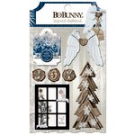 Bo Bunny - Sleigh Ride Collection - Christmas - Layered Chipboard Stickers
