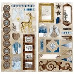 Bo Bunny - Sleigh Ride Collection - Christmas - Chipboard Stickers