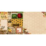 Bo Bunny - Enchanted Harvest Collection - 12 x 12 Double Sided Paper - Bountiful