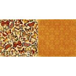 BoBunny - Enchanted Harvest Collection - 12 x 12 Double Sided Paper - Butterflies