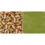 BoBunny - Enchanted Harvest Collection - 12 x 12 Double Sided Paper - Mushrooms