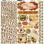 Bo Bunny - Enchanted Harvest Collection - 12 x 12 Cardstock Stickers - Combo