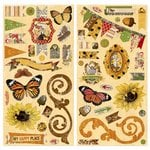 BoBunny - Enchanted Harvest Collection - Chipboard Stickers