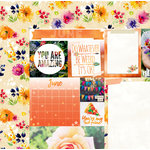 BoBunny - Calendar Girl Collection - 12 x 12 Double Sided Paper - June