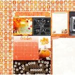 Bo Bunny - Calendar Girl Collection - 12 x 12 Double Sided Paper - October