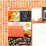 BoBunny - Calendar Girl Collection - 12 x 12 Double Sided Paper - October