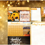 Bo Bunny - Calendar Girl Collection - 12 x 12 Double Sided Paper - November