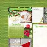 Bo Bunny - Calendar Girl Collection - 12 x 12 Double Sided Paper - December