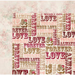 Bo Bunny - Love and Lace Collection - 12 x 12 Double Sided Paper - Devotion
