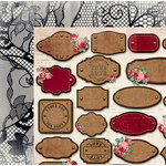 BoBunny - Love and Lace Collection - 12 x 12 Double Sided Paper - Lace