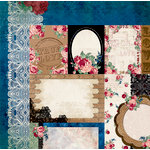 BoBunny - Love and Lace Collection - 12 x 12 Double Sided Paper - Passion