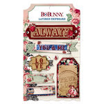 Bo Bunny - Love and Lace Collection - Layered Chipboard Stickers