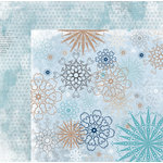 Bo Bunny - Whiteout Collection - 12 x 12 Double Sided Paper with Glitter Accents - Whiteout