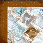 Bo Bunny - Whiteout Collection - 12 x 12 Double Sided Paper with Glitter Accents - Arctic Rim