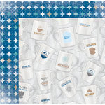 Bo Bunny - Whiteout Collection - 12 x 12 Double Sided Paper with Glitter Accents - Exhilarating