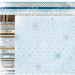 BoBunny - Whiteout Collection - 12 x 12 Double Sided Paper with Glitter Accents - Frozen