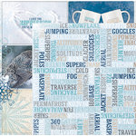 Bo Bunny - Whiteout Collection - 12 x 12 Double Sided Paper with Glitter Accents - Ski Pass