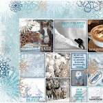 BoBunny - Whiteout Collection - 12 x 12 Double Sided Paper with Glitter Accents - Winter Solstice
